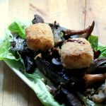 Wild mushroom & truffled honey goats cheese salad