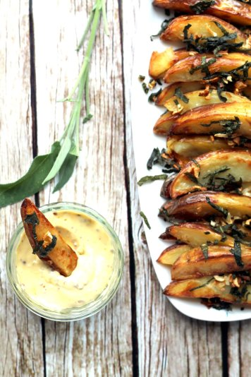 Super tasty oven baked wedges and a home made truffle mayonnaise? Treat yo'self!