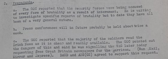 Brigadier Marston Tickell and the Dangers of Reading the Irish News