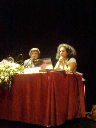 O Prof. Eduardo Vilar (CML) e a Dra. Rosário Machado (Rota do Românico)