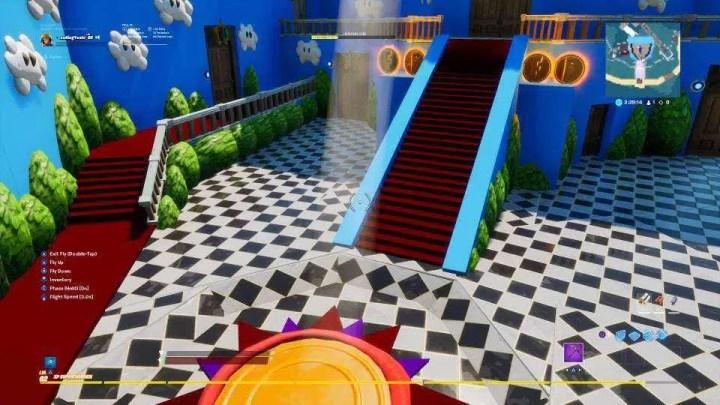 Fã de Super Mario 64 está refazendo o reino dos cogumelos em Fortnite