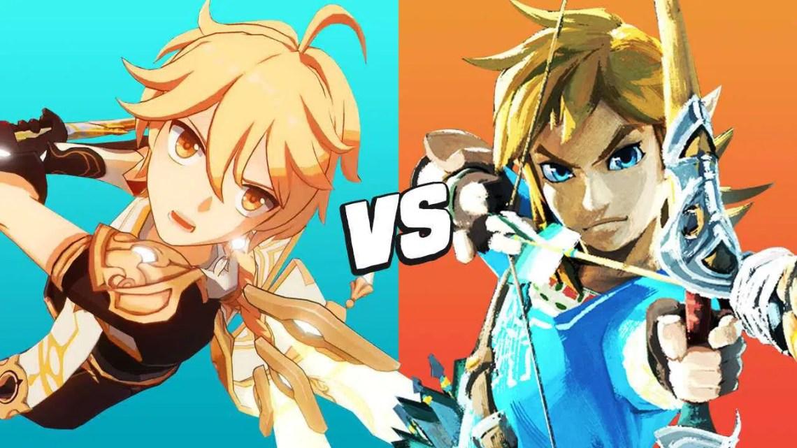 Impacto Genshin vs. Zelda: Breath of the Wild – 20 maiores semelhanças