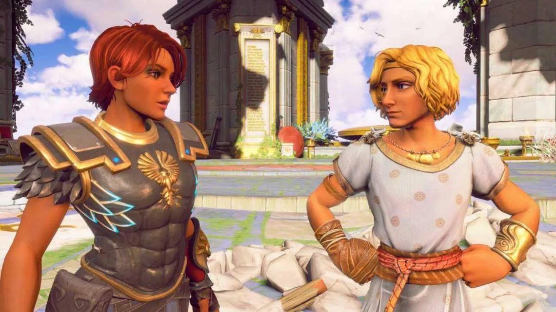 Immortals Fenyx Rising explora os deuses gregos como se fossem uma família na reality TV