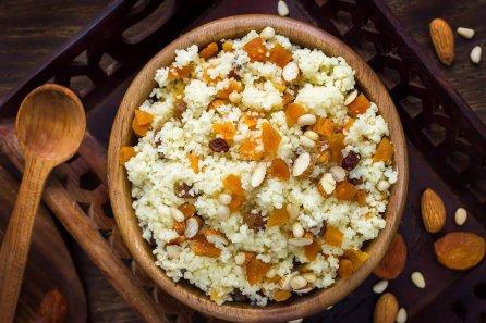 """immagine Cous cous di mais """"Vitabella"""", mandorle e uvetta Blog senza glutine ricette"""