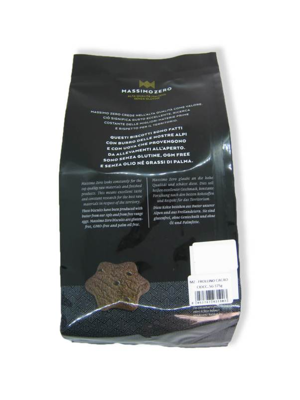 immagine Frollini al cacao Massimo Zero retro