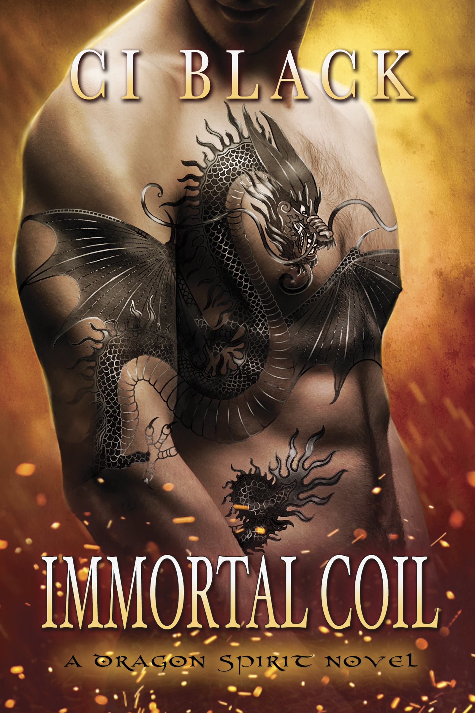 Immortal Coil, an urban fantasy / paranormal romance and the first book in the Dragon Spirit series by C.I. Black