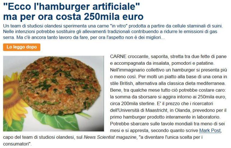 Hamburger Artificiale da Repubblica