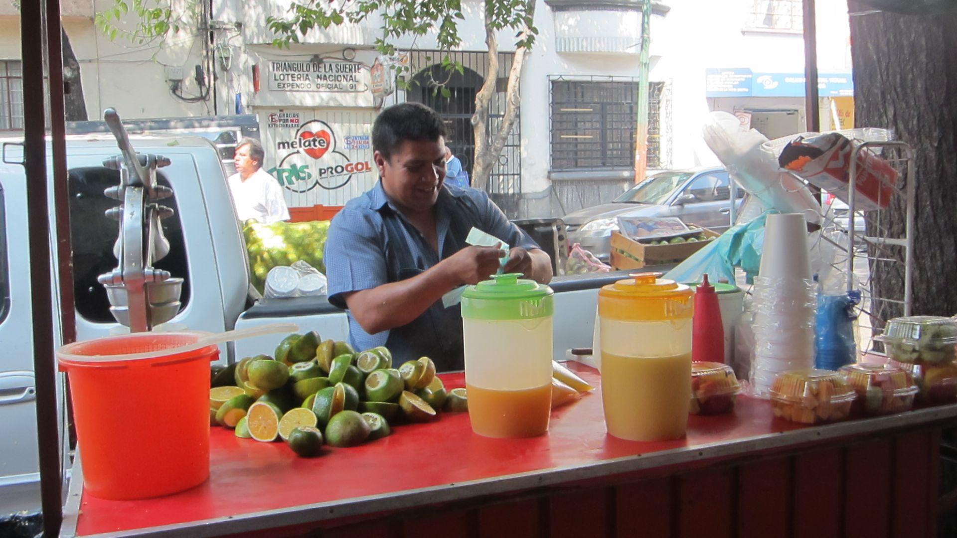 Chiosco spremute arance Città del Messico