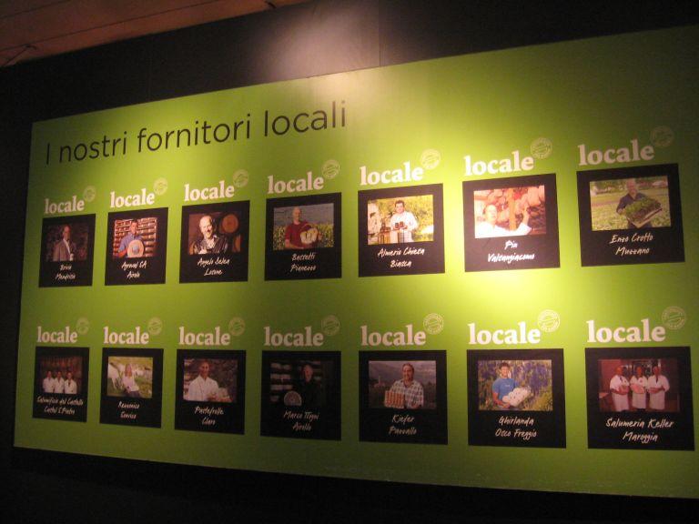 Supermercato Svizzero con le foto dei produttori