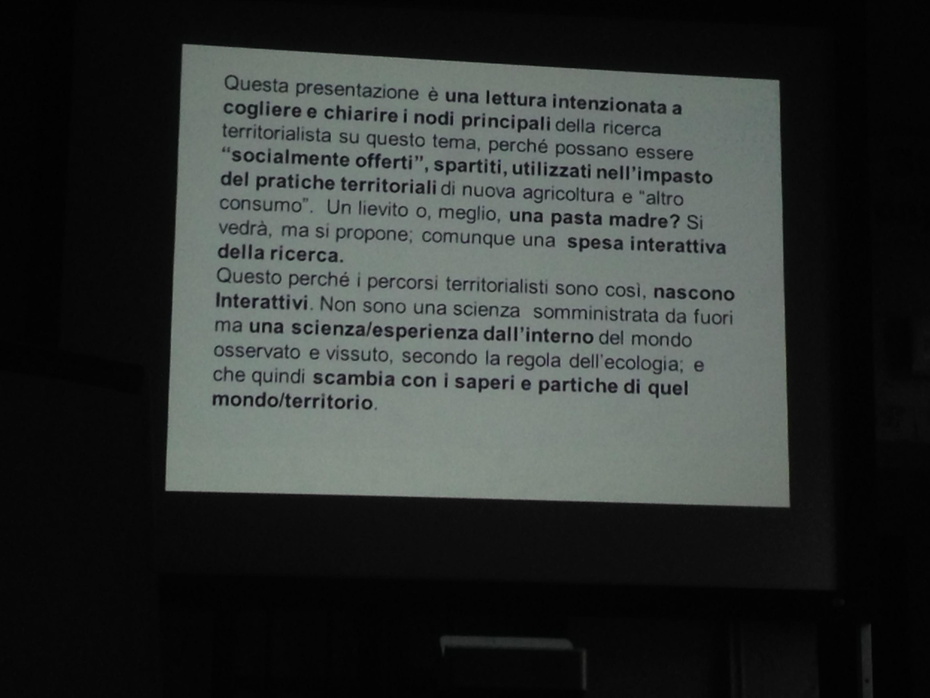 Sovranita Alimentare a Milano - Giorgio Ferraresi Presentazione