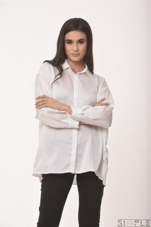 Φωτογραφία προϊόντος Σατέν πουκάμισο Oversized
