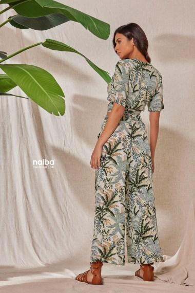 Φωτογραφία προϊόντος Παντελόνα ζιπ με μοτίβο - Crop top κρουαζέ