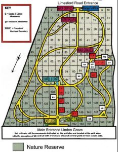 Nunhead cemetery map