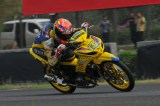 Tamy Pratama pemenang race 1 kelas 150cc seri 5 Indonesia Road Racing Championship menggeber Yamaha MX Kingdi Sentul International Circuit