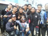 Komentator MotoGP Matteo Guerinoni bersama komunitas V-Ixion di event Yamaha Sunday Race