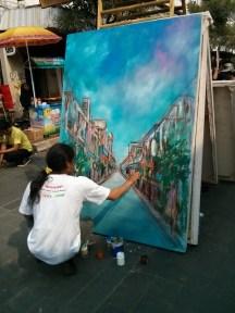 Lukisan jalan Braga?