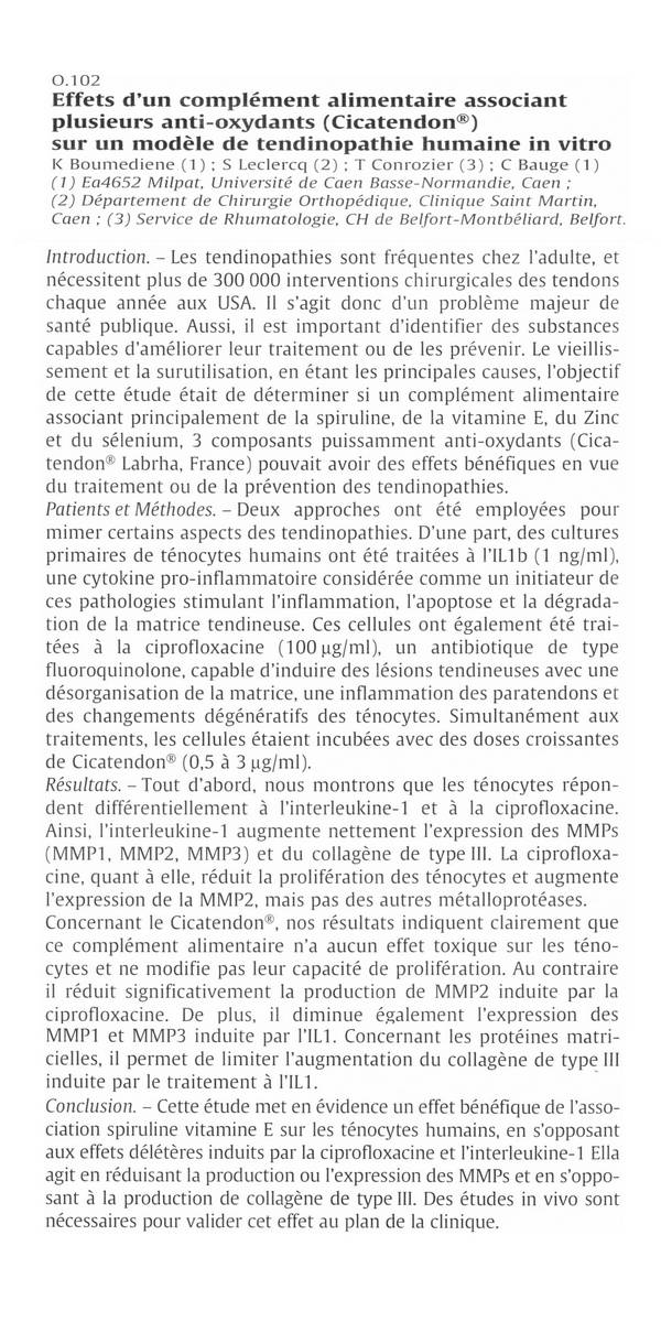 Article presse Cicatendon