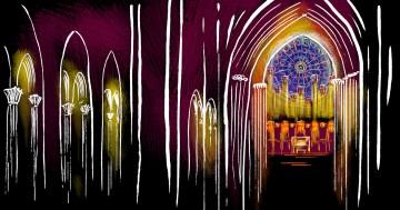 The organ in Notre Dame de Paris