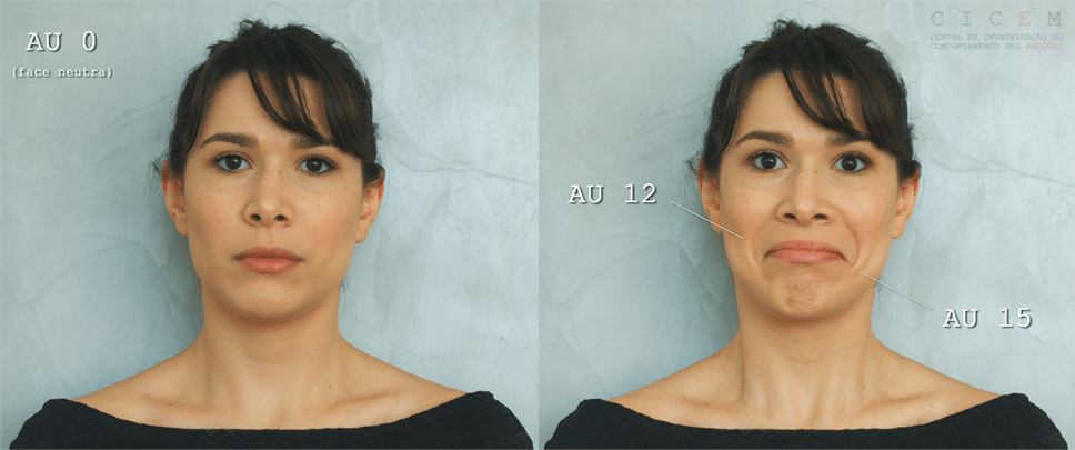facial action coding system AUs músculos
