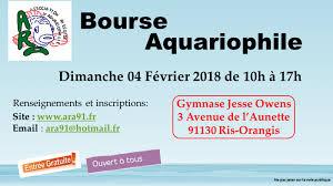 Bourse aquariophile le 4 février 2018 à Ris-Orangis