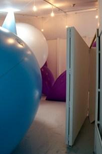 The Measuring Room - BLANK Gallery installation view [door], CiCi Blumstein 2008.