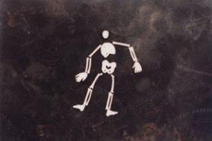 Bag o' Bones sculptures, London rooftop, 1996. Flour, salt, water, heat. Sculptures & Photo: CiCi Blumstein