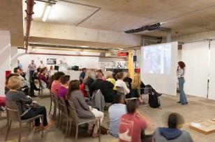 love architecture festival - PKN Threshold 2012 - CiCi Blumstein presenting her talk. Photo: Jim Stephenson