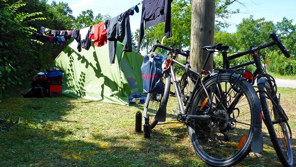 viaggio in bici con la tenda