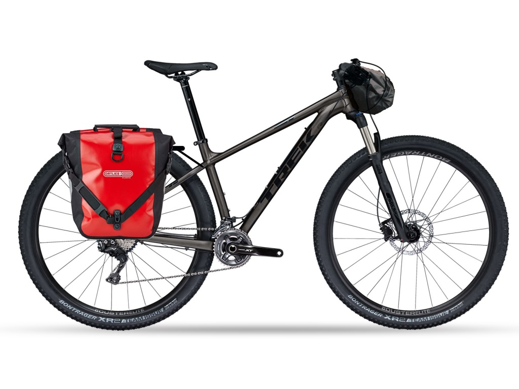 trek xcaliber 8 ortlieb panniers sizilien