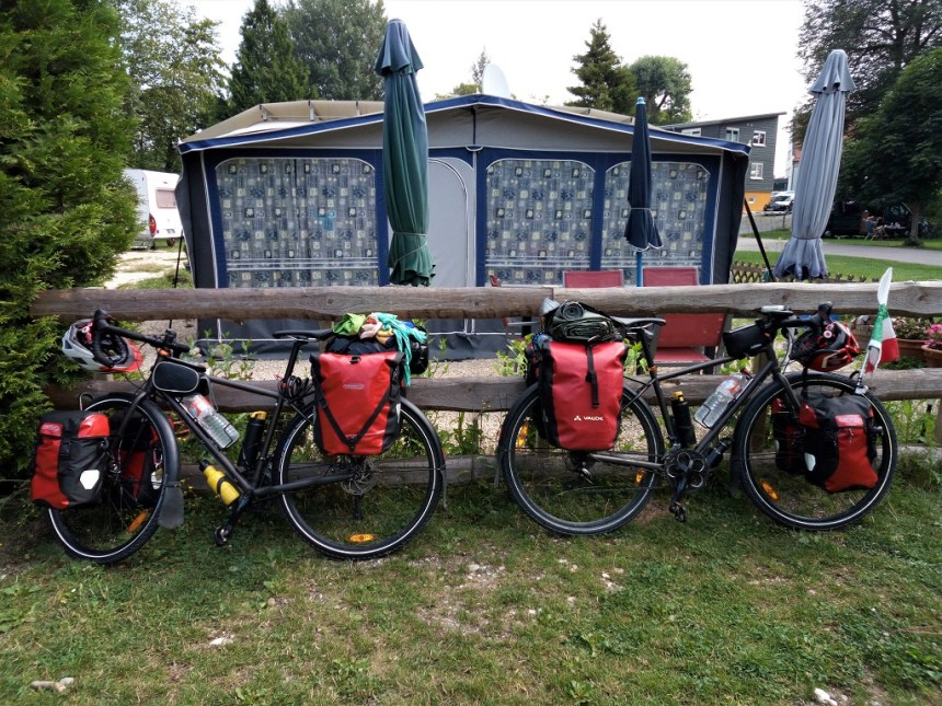 a camping in Sigmaringen on the Eurovelo 6