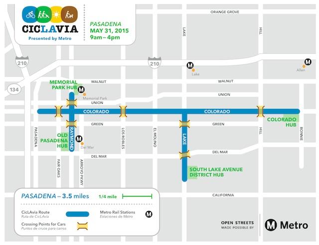 Ciclavia_Pasadena_Map