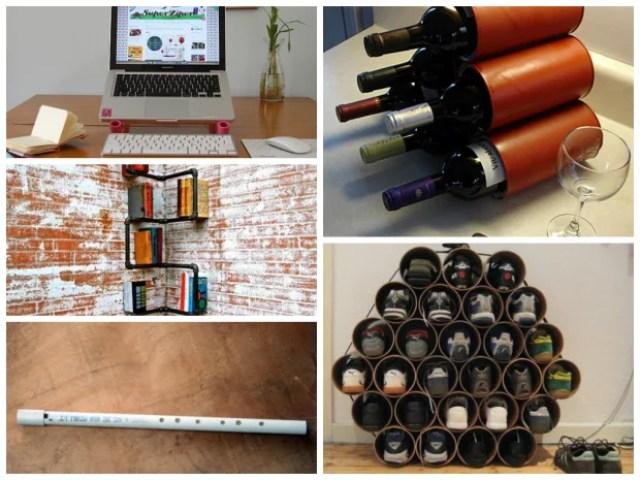 5 dicas de artesanatos feitos com canos reaproveitados