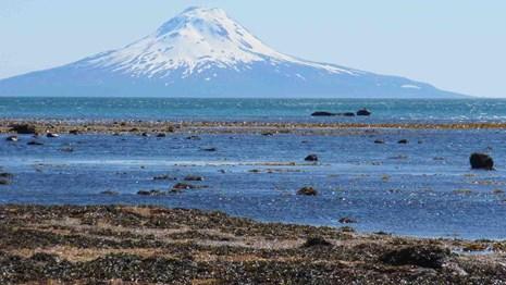 volcano and ocean