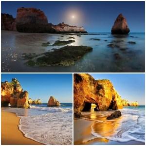 Praia dos Três Irmãos. Portimao. Algarve, Portugal