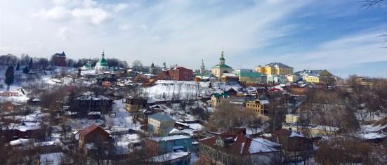 Vista panorámica dende o monumento do Príncipe Vladimir