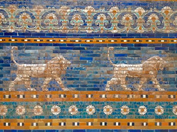 Fragmento das Portas de Ishtar no Museo de Pérgamo