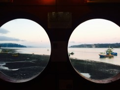 Vistas dende as Cocinerías de Dalcahue (Isla de Chiloé/Chile)