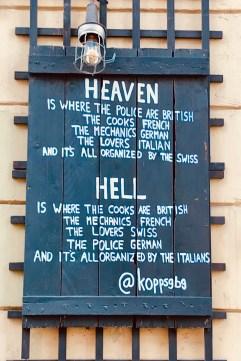Ceo e inferno nun restaurante de Gotemburgo (Suecia).