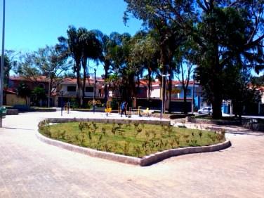 """Praça Batista Botelho, também conhecida como """"praça do coração""""."""
