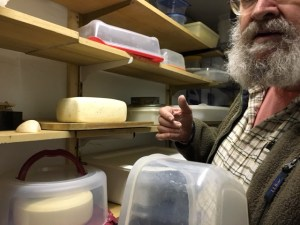 Jim in his cheese cave