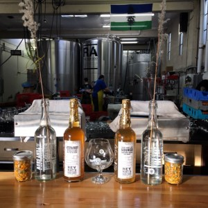 The production area at Rev Nat's is directly behind the Tasting Room