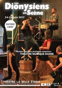 Les Dionysiens en Scène - les 24 et 25 juin 2017 @ La Belle Étoile | Saint-Denis | Île-de-France | France