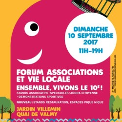 Forum des association Paris 10ème 2017 Affiche
