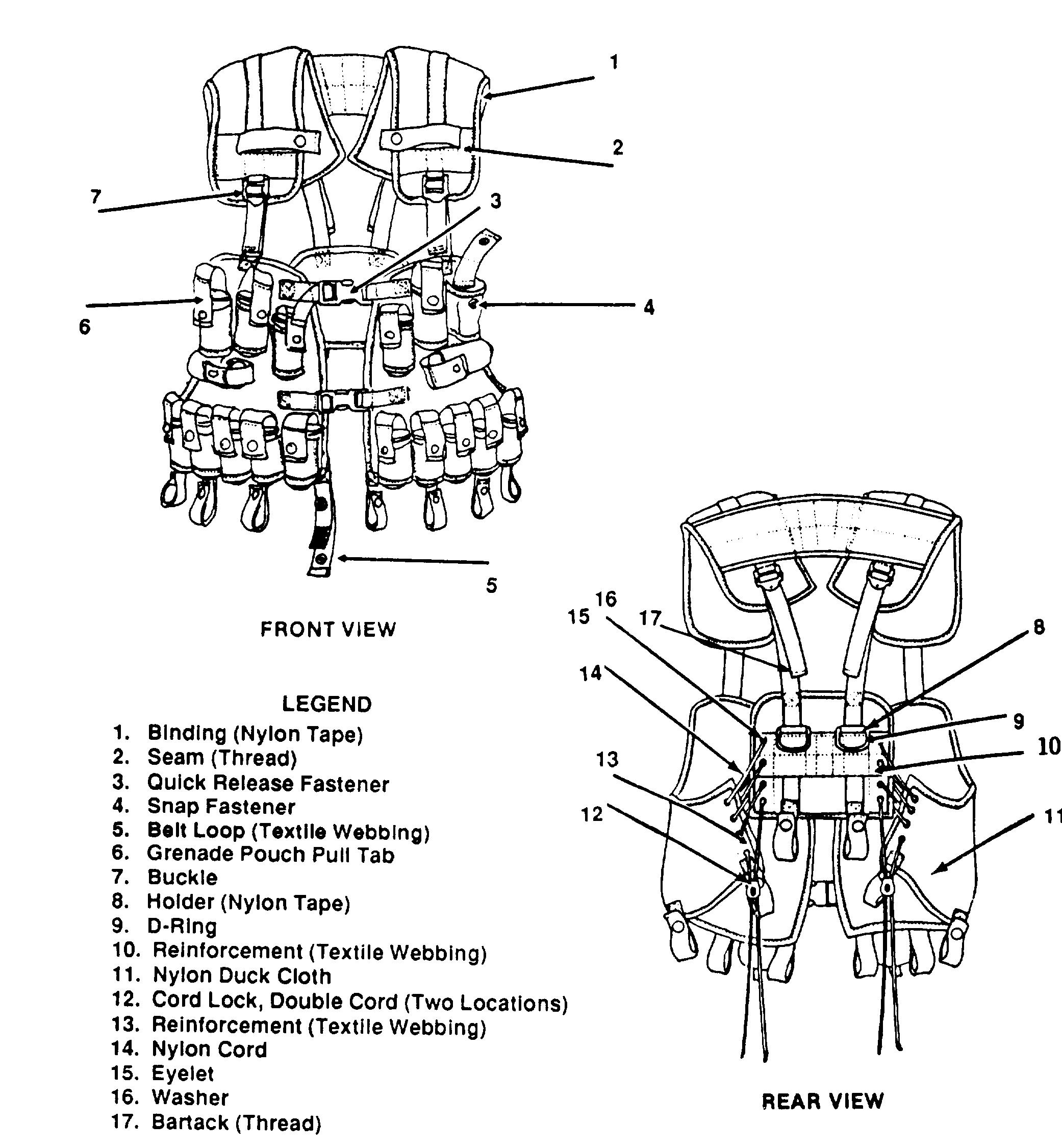 Iifs Grenade Carrier Vest