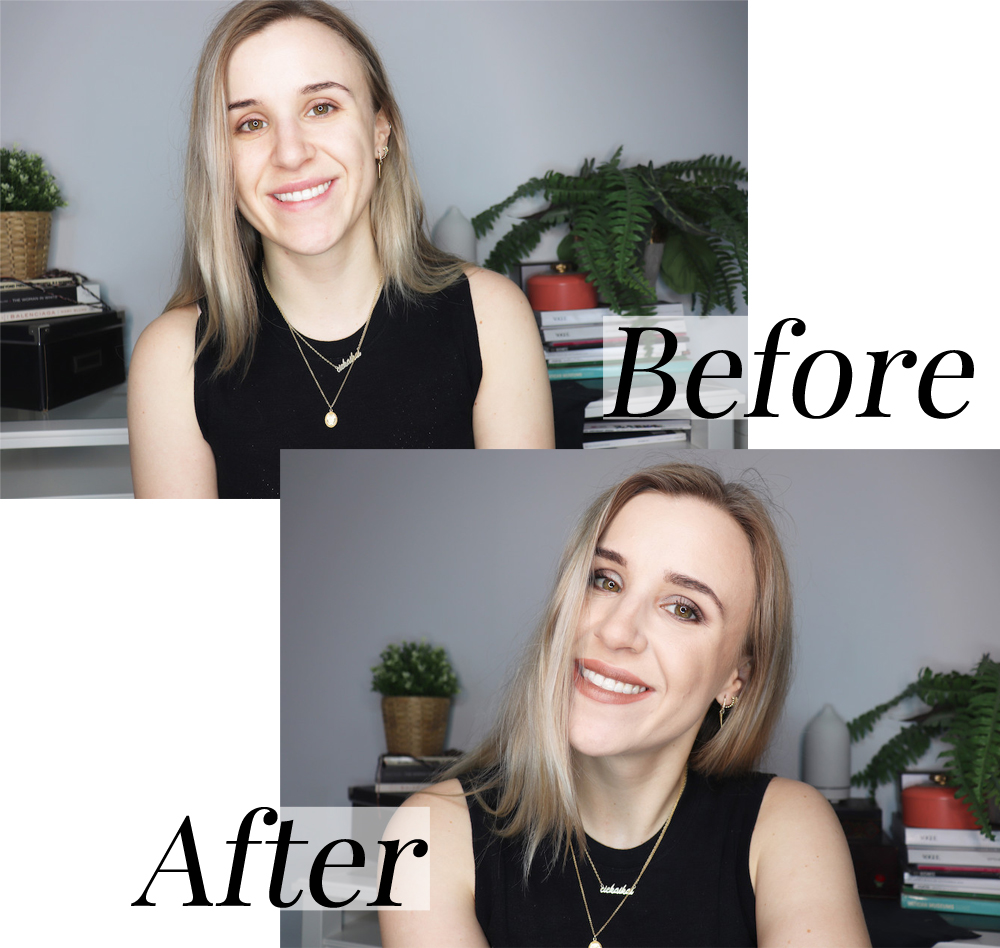 Before after makeup primer potion
