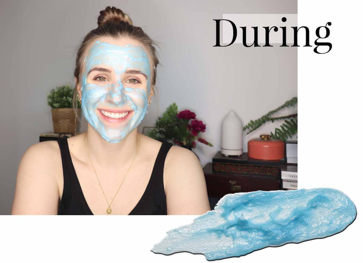Biore Blue Agave Mask during