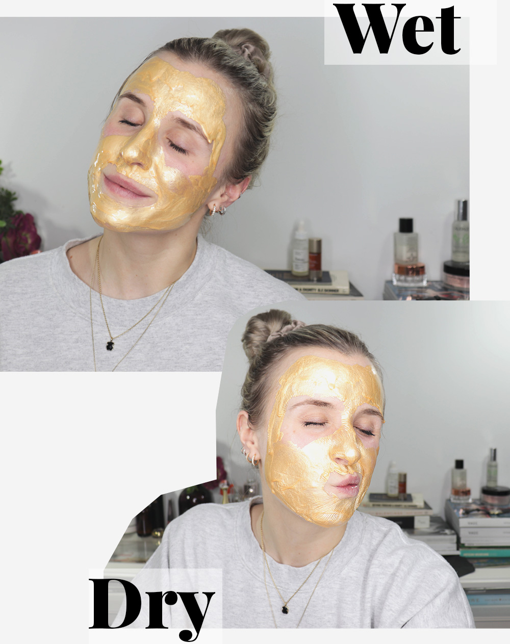 Gold Peel Off Mask During Images