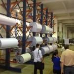 Bulk storage of the PVC for adhesive vinyl