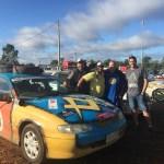 "The ColourGuru sponsors ""Stonecutters"" Shitbox Rally car"