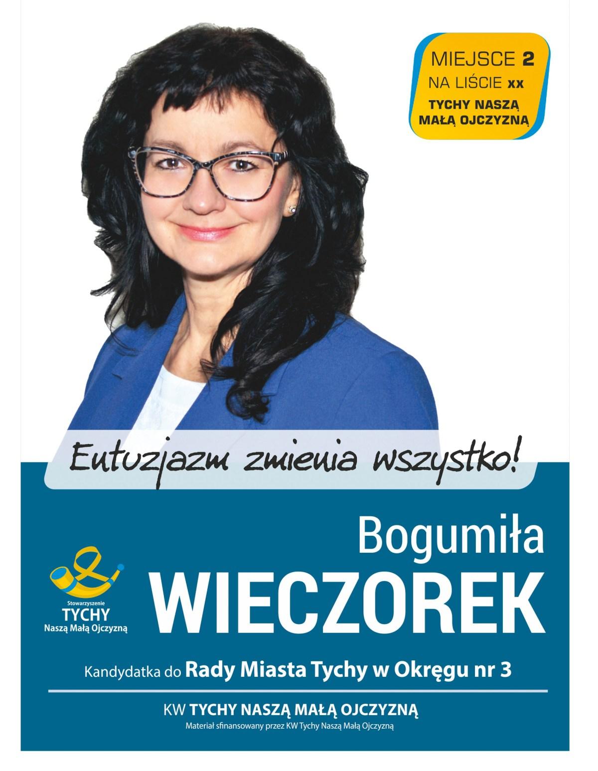 Bogumiła Wieczorek - kandydatka do Rady Miasta Tychy